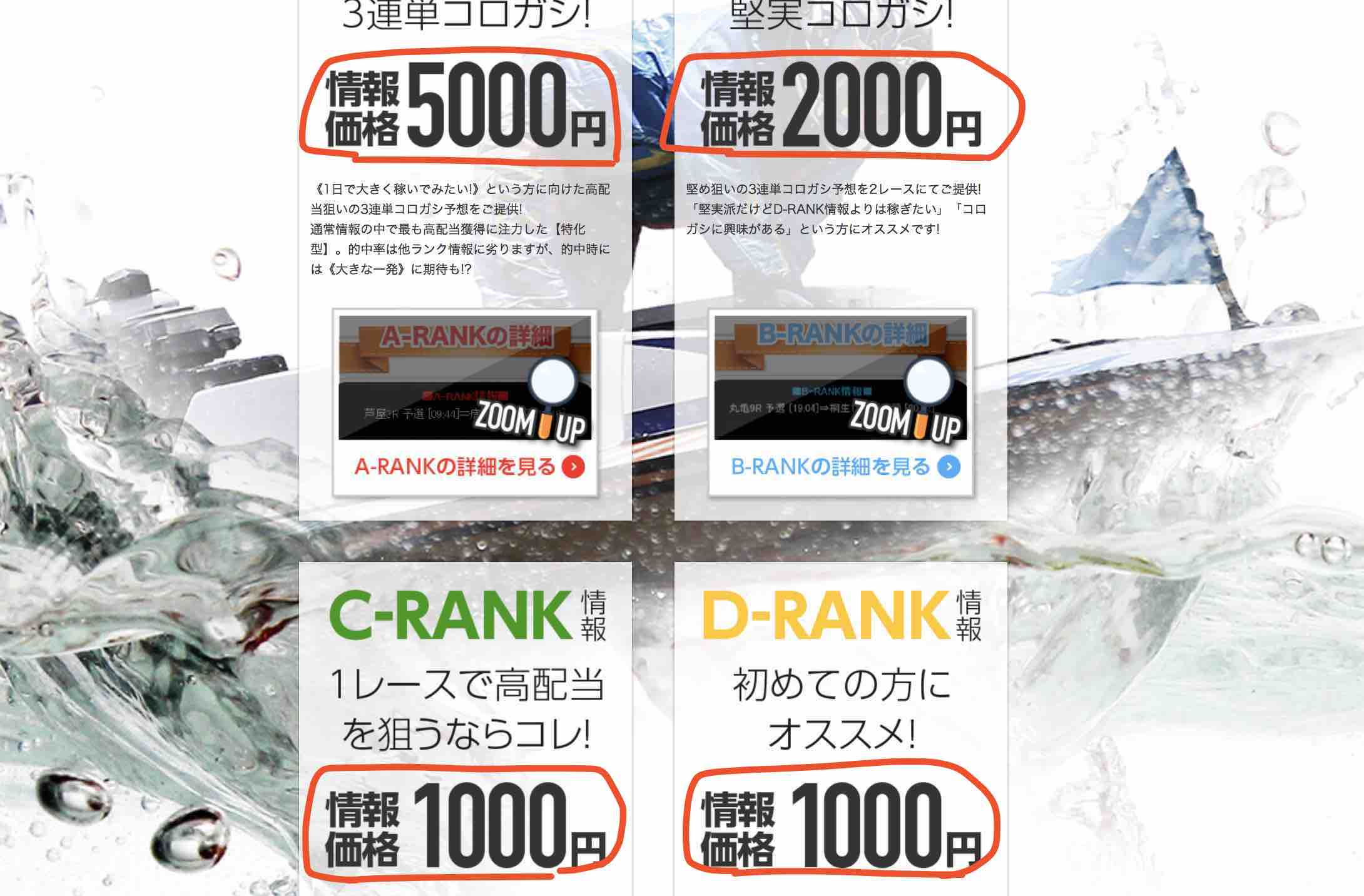 BOAT365(ボート365)という競艇予想サイト・ボートレースの評価、評判、口コミ情報の1つ目である値段が安い!