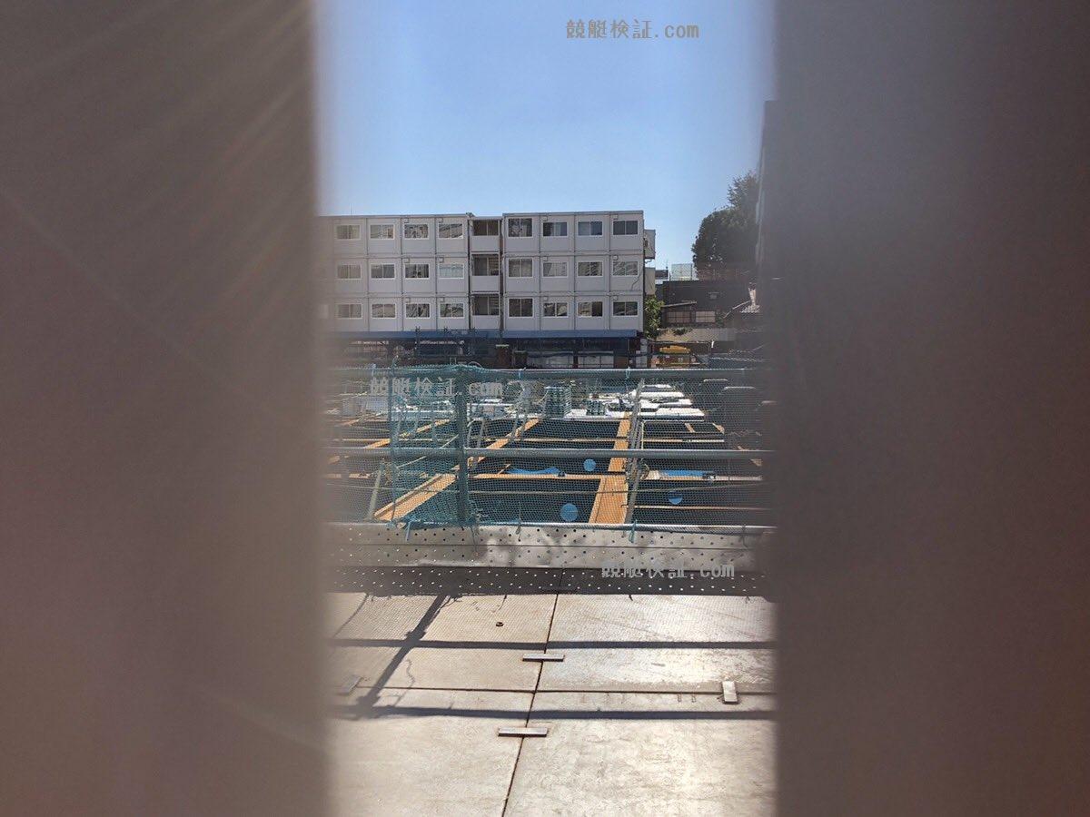 六本木の競艇ボートレース振興会の本社ビル建設現場を11月2日に覗く