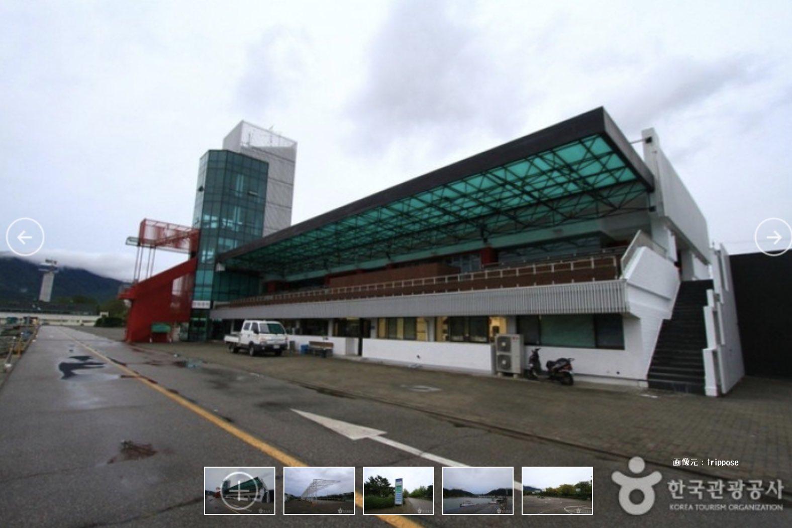 韓国競艇唯一の渼沙里競艇場の写真画像