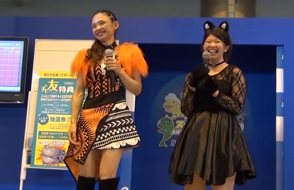 安室奈美恵のコスプレで登場した佐々木裕美選手