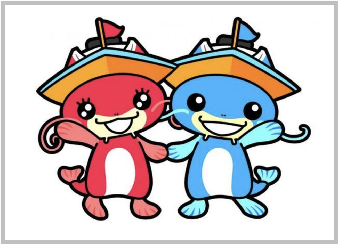 びわこ競艇場のマスコットキャラクター、びなちゃんとビーナスちゃんの画像