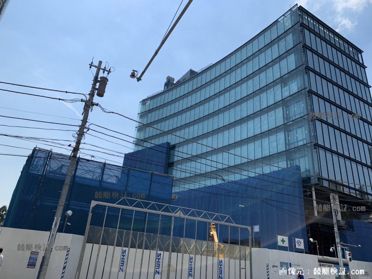2019年 9月11日の六本木・競艇ボートレース振興会の本社ビル建設現場