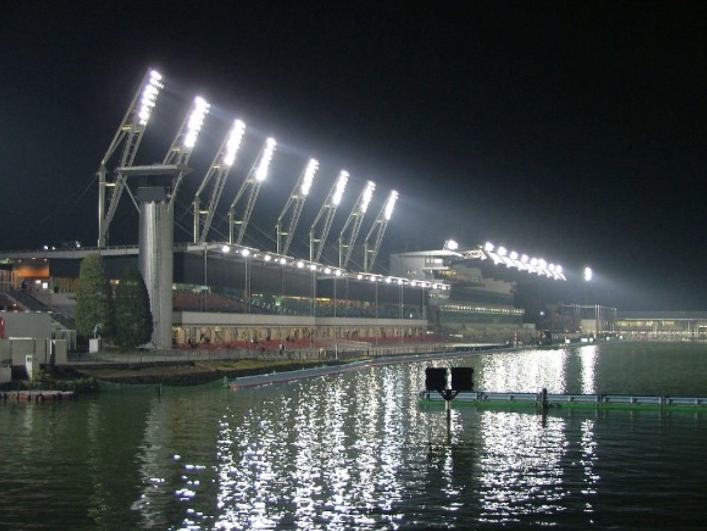 ボートレース桐生競艇場のナイター画像