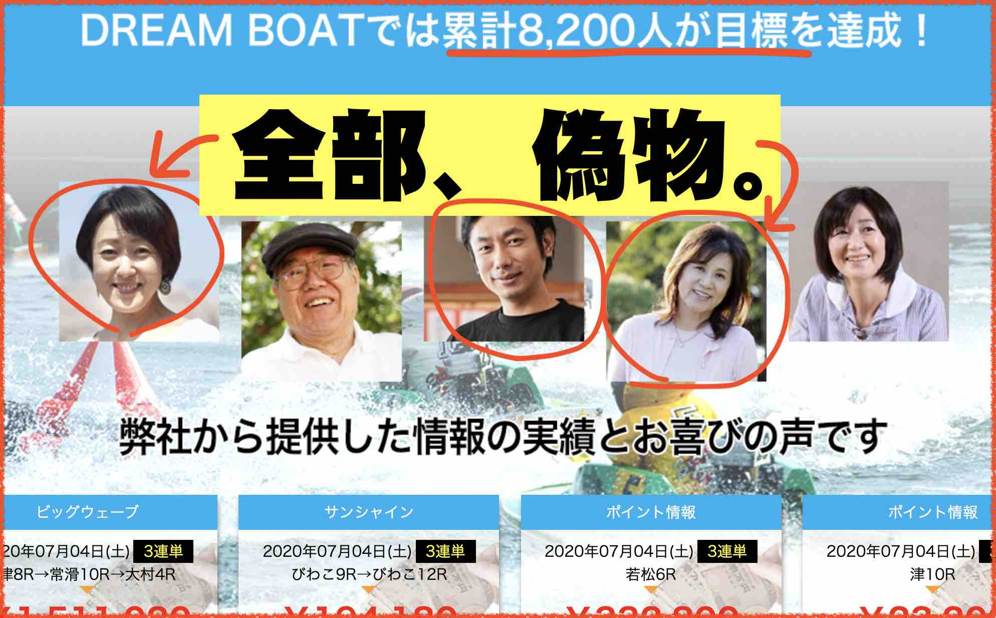 ドリームボートという競艇予想サイト、ボートレース予想サイトは嘘をつくので注意