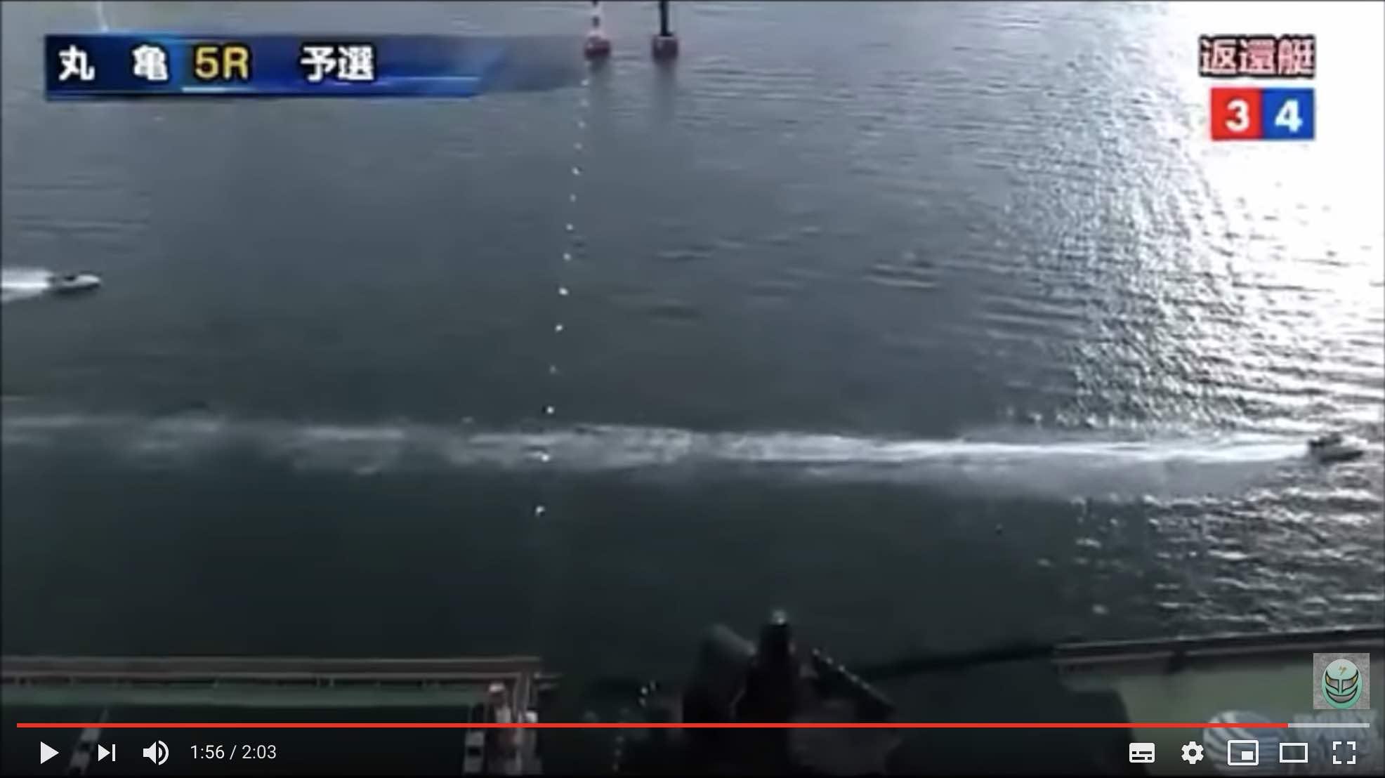 丸亀5Rで4艇中2艇Fで2艇だけのレース
