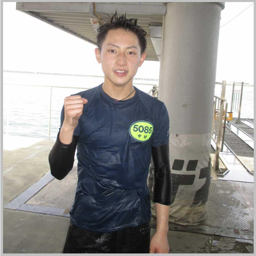 競艇ボートレースの水神祭後写真