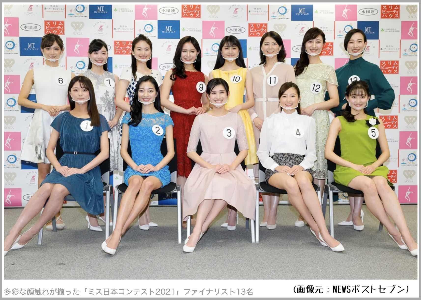 53回ミス日本コンテスト2021のファイナリストたち