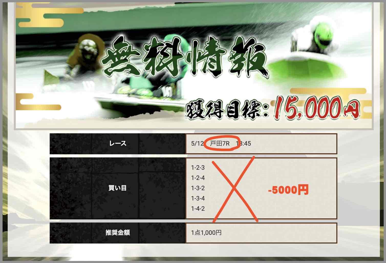 競艇予想サイト神風という競艇予想サイトの無料予想(無料情報)の抜き打ち検証