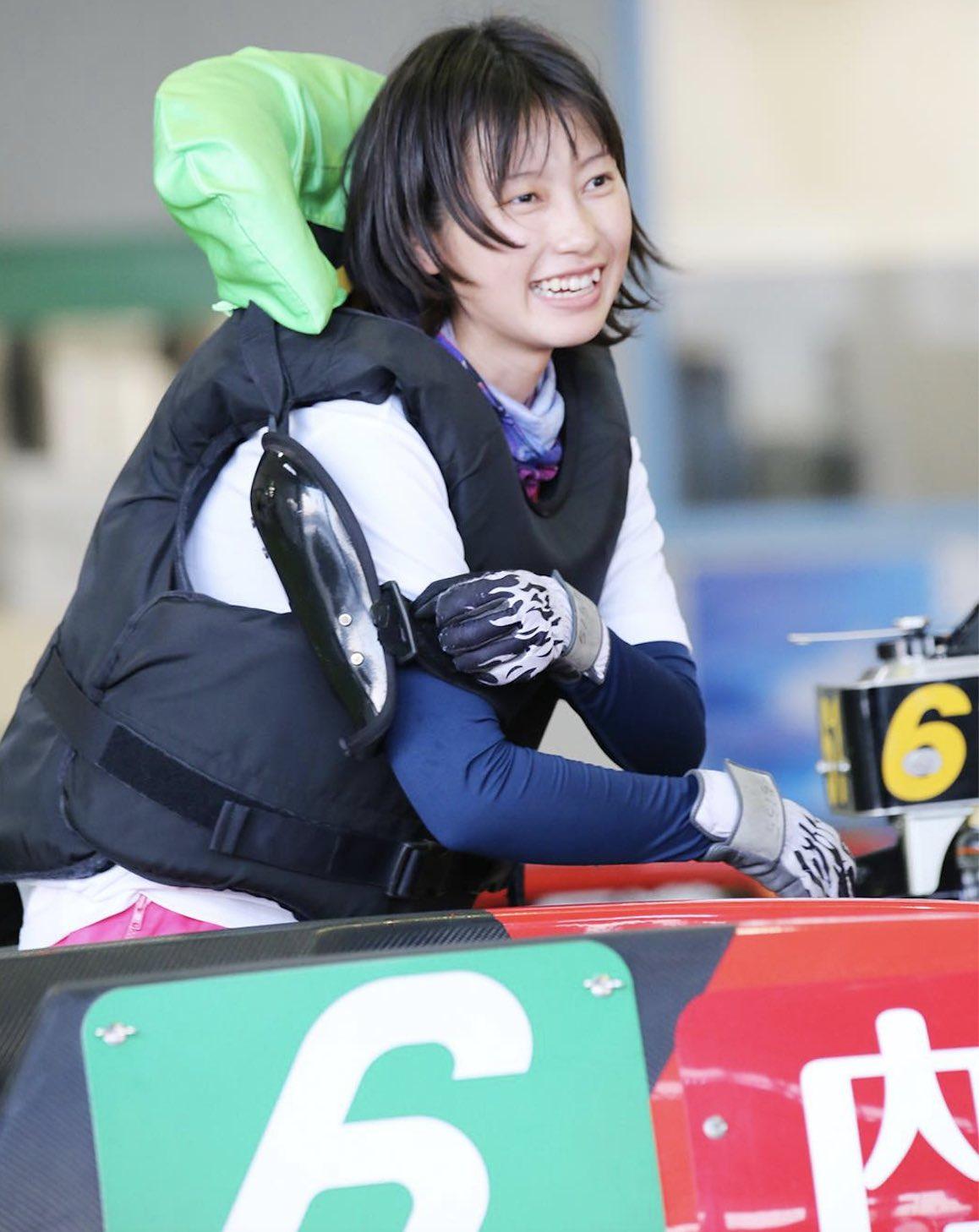 内山七海選手という競艇女子(女子ボートレーサー)の写真画像
