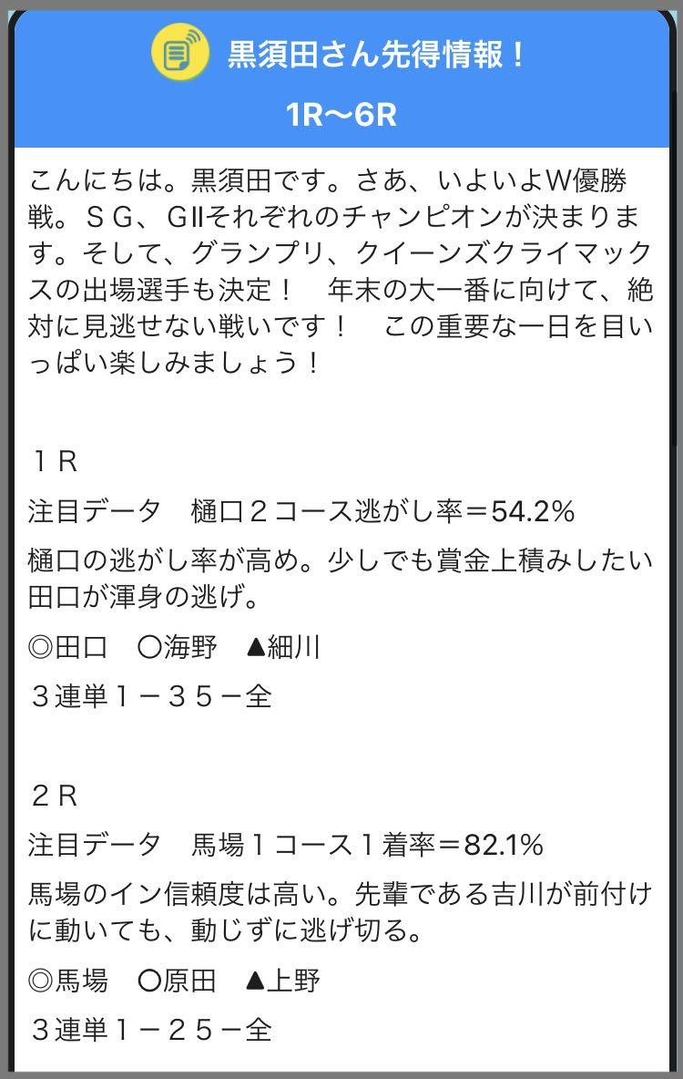競艇予想、ボートレース予想のレジャチャンサプリの黒須田さんの先得情報